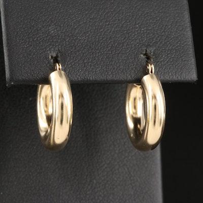 14K Tubular Hoop Earrings
