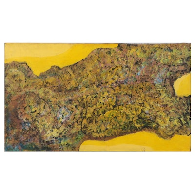 Don Stacy Large-Scale Abstract Oil Painting, 1980s