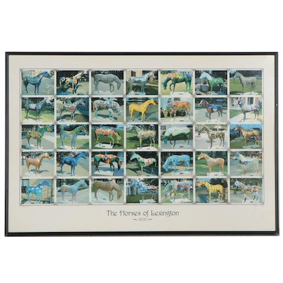 """Offset Lithograph Poster After Rick Anderson """"The Horses of Lexington"""""""