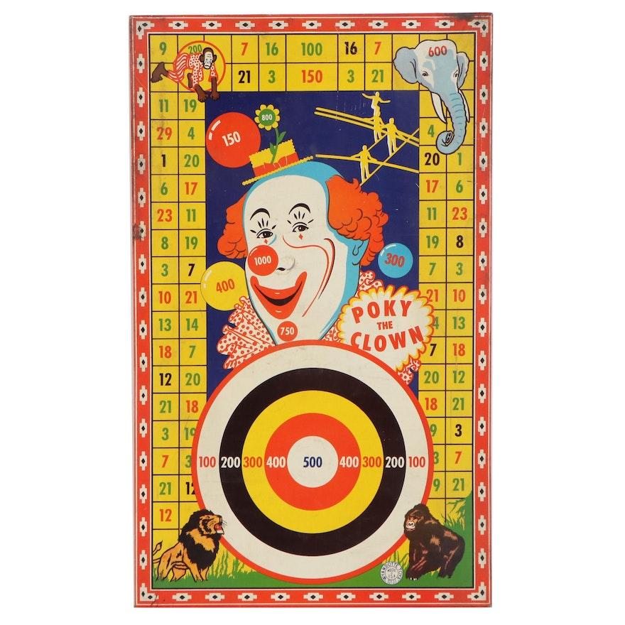 "Wyandotte Toys ""Poky the Clown"" Dartboard, circa 1940"