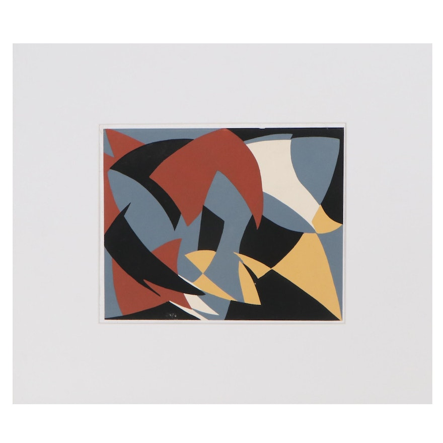 Abstract Pochoir After Alfred Reth, Late 20th Century