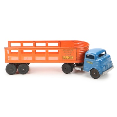 Structo Toys Pressed Steel Overland Freight Lines Truck, 1940s