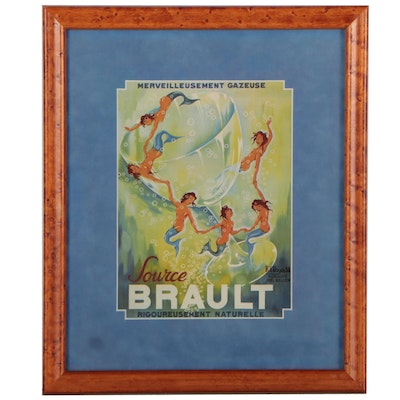 """Offset Lithograph After Philippe Henri Noyer """"Source Brault,"""" Late 20th Century"""