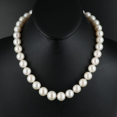 11.50 MM - 13.50 MM Pearl Necklace with 14K Clasp