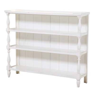 Contemporary White-Painted Wood Bookcase