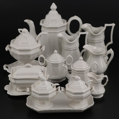"""Red Cliff """"Sydenham"""", """"Heritage"""" and Other Red-Cliff Ironstone Tableware"""
