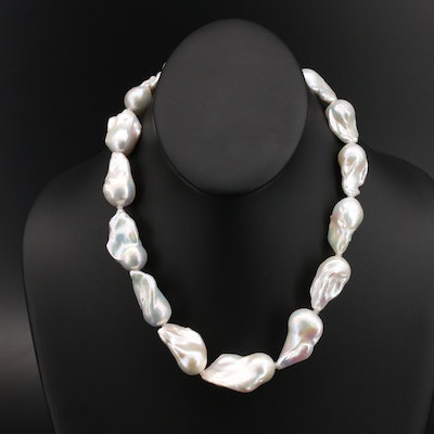 Graduated Baroque Pearl Necklace with 14K Clasp