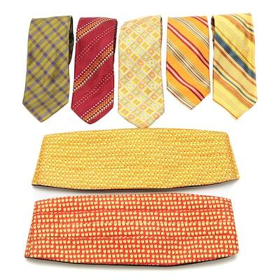 Peter Blair Silk Twill Cummerbunds and Altea Silk Twill Neckties