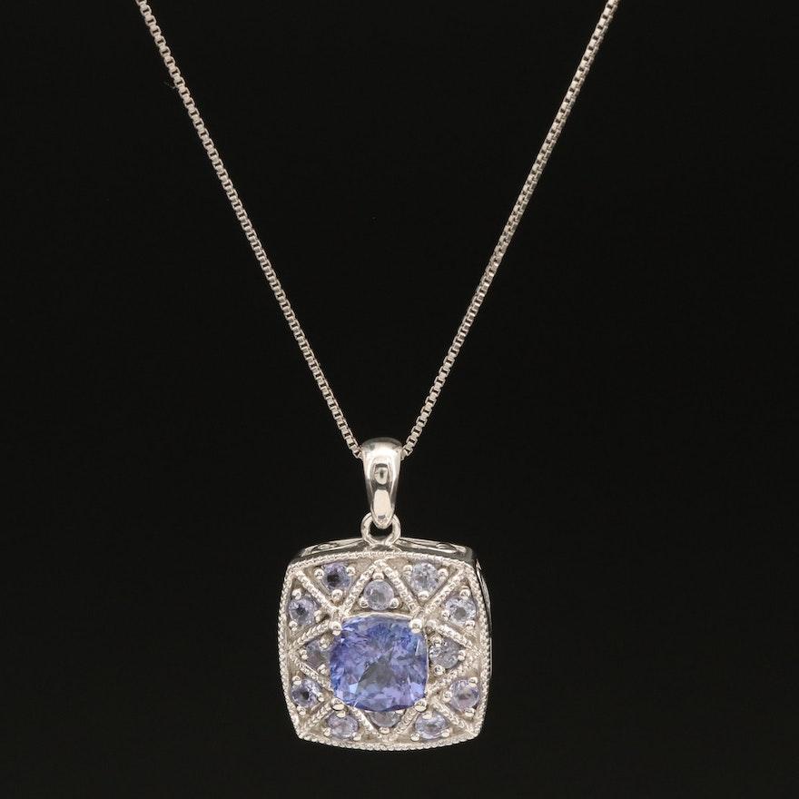 Sterling Tanzanite Pendant Necklace