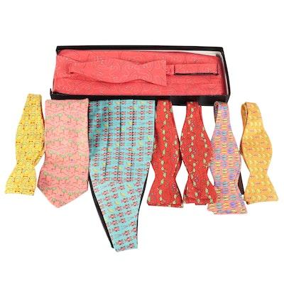 Peter Blair Patterned Silk Adjustable Bow Ties, Cummerbunds and Necktie