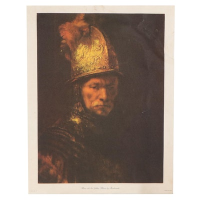 """Offset Lithograph After Rembrandt """"Man with the Golden Helmet"""""""