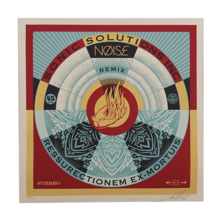 "Shepard Fairey Serigraph ""NØISE/SSI: Ressurectionem Ex-Mortuis Remix,"" 2020"