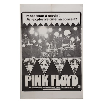 """""""Pink Floyd: Live at Pompeii"""" Lithograph One-Sheet Movie Poster, 1972"""