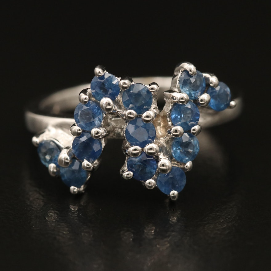 Sterling Sapphire Multi-Stone Ring