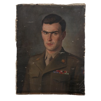 Steiner Portrait Oil Painting of US Army Officer, 1947