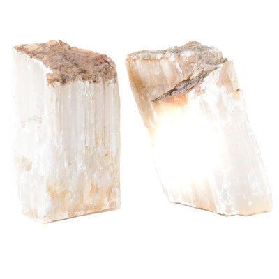 Large Selenite Mineral Specimens