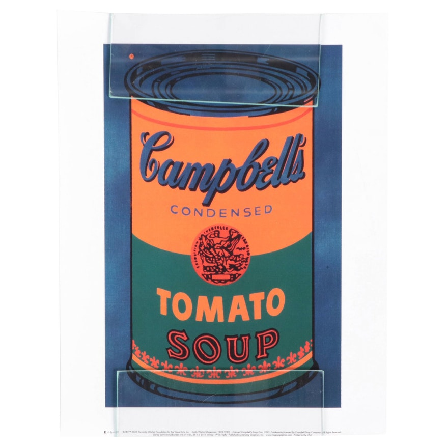 """Offset Lithograph After Andy Warhol """"Colored Campbell's Soup Can"""""""