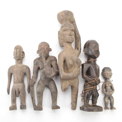Central African Hand-Carved Wood Figures