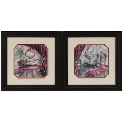 Offset Lithographs After Tre Sorelle of Interiors, 21st Century