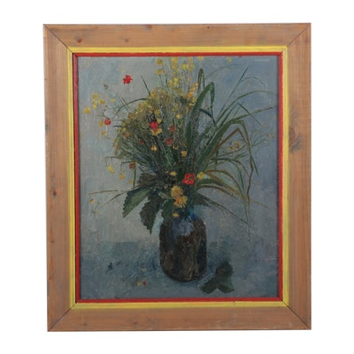 "Still Life Oil Painting ""June Bouquet,"" 1986"