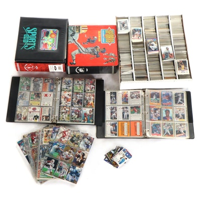 1980s-2000s Football, Baseball, and Basketball Cards with Tom Brady, Dan Marino