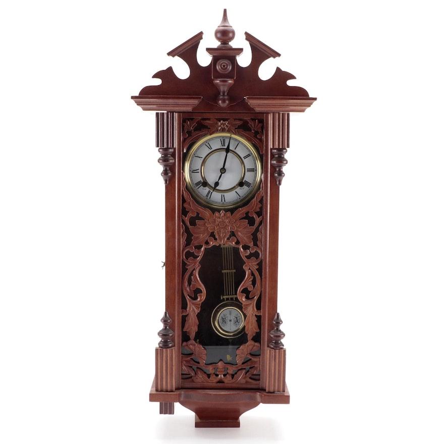 German Style Walnut Wood Wall Clock