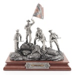 """Francis Barnum for Chilmark """"Rebel Yell"""" Pewter Sculpture, 1996"""