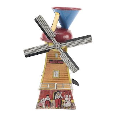 Mac Toys #26 Dutch Mill Tin Lithograph Sand Toy Windmill, circa 1920