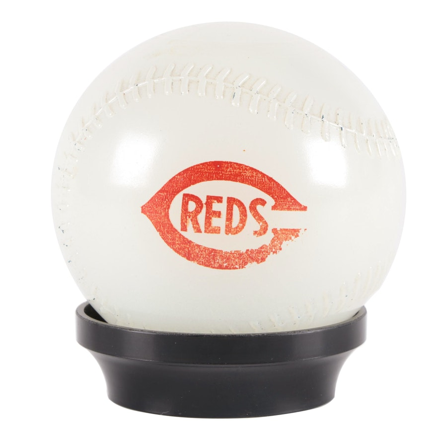 Cincinnati Reds and Mobil Oil & Gas Baseball Coin Bank, Mid-20th Century