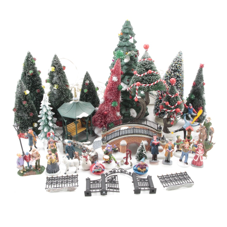 Department 56 and Lemax Christmas Village Figurines and Other Table Décor