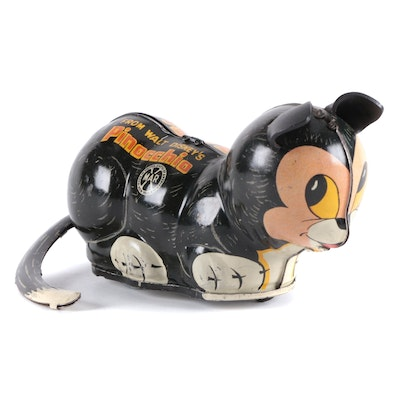 """Marx """"Figaro"""" Turn-Over Wind-Up Cat from """"Pinocchio"""""""