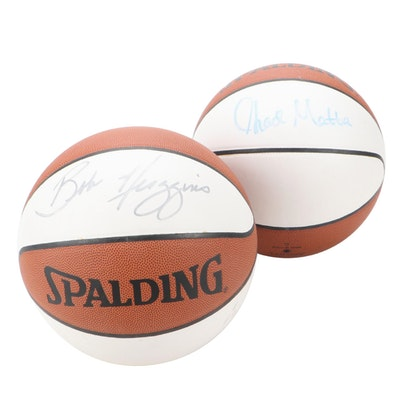 Bob Huggins and Thad Matta Signed Spalding Basketballs