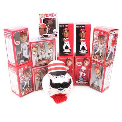 Cincinnati Reds Bobbleheads, Statues, Mr. Redlegs Hand Puppet