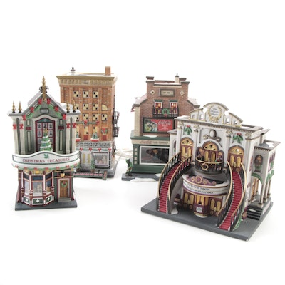 """Department 56 """"Christmas In The City"""" Porcelain Buildings"""