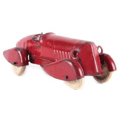 Wyandotte Toys Pressed Steel Race Car, 1930s