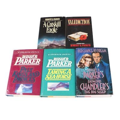 """Signed First Edition Robert B. Parker Novels Including """"Valediction"""""""