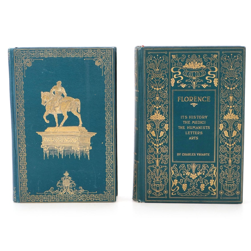 """Illustrated """"Florence"""" and """"Venice"""" by Charles Yriarte, Late 19th Century"""