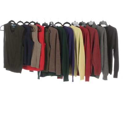 Men's Polo, Brooks Brothers and JWN Cashmere and Wool Sweaters and Vests