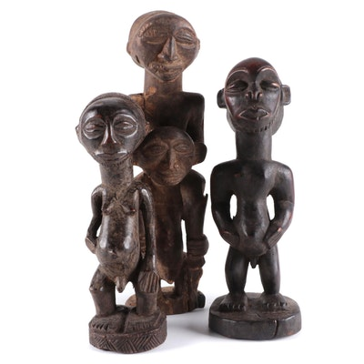Hemba and Luba Style Carved Figures, Central Africa