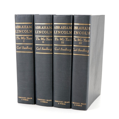 """""""Abraham Lincoln: The War Years"""" Complete Four-Volume Set by Carl Sandburg"""