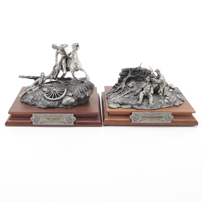 """Barnum for Chilmark """"The Rescue"""" and """"Angel of Fredericksburg"""" Pewter Sculptures"""