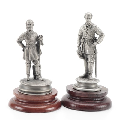 """Francis Barnum for Chilmark """"The Grey Ghost"""" and """"Stonewall"""" Pewter Sculptures"""
