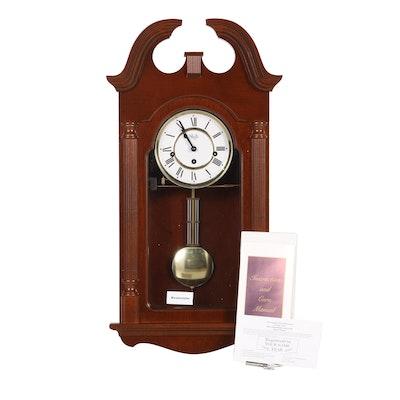 Sligh Mahogany Wood Westminster Chime Wall Clock, 1999