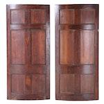 Pair of George III, Greek Revival Curved Pocket Doors, Early 19th C.