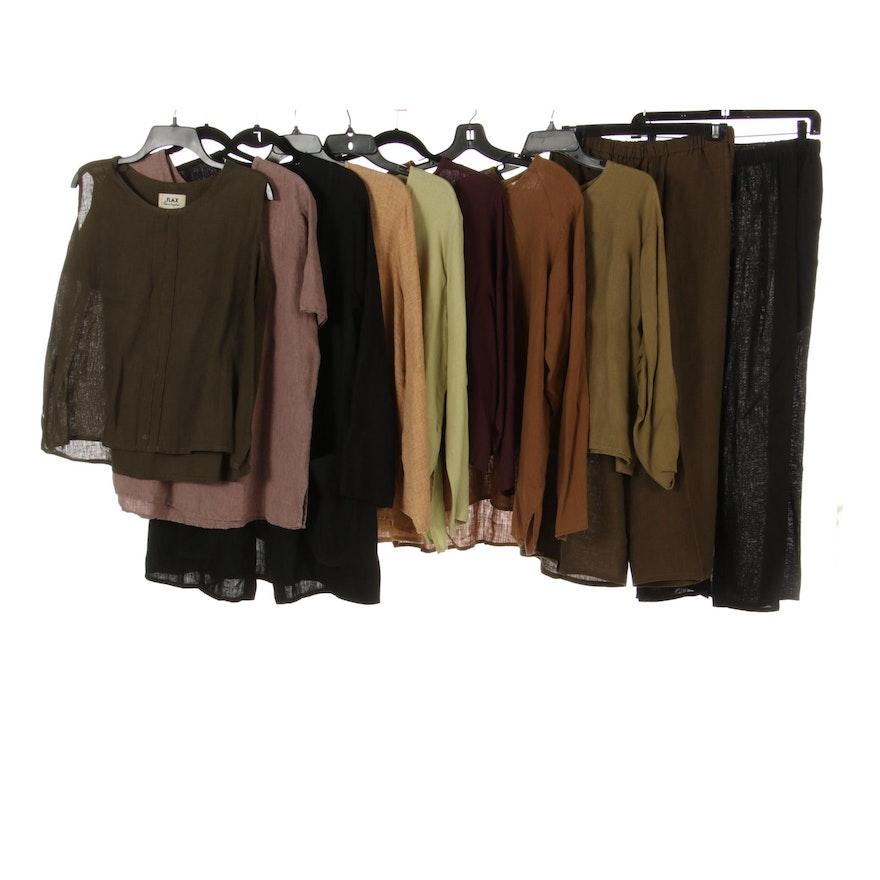 Flax byJeanne Engelhart Linen Tops, Skirts, Pants, Long Sleeve Cardigan