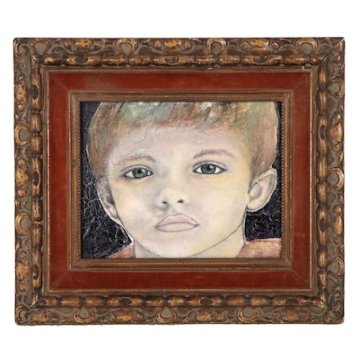 """Michael Ralston Howell Mixed Media Painting """"Kyle,"""" 2019"""