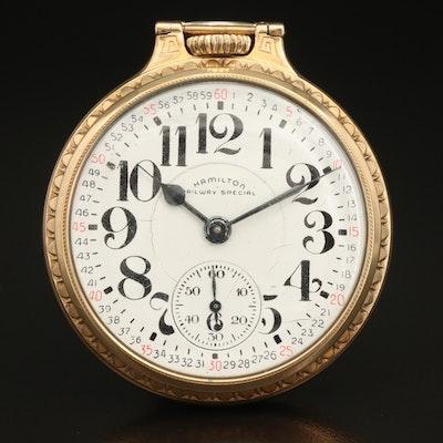1953 Hamilton Railway Special 10K Gold Filled Pocket Watch