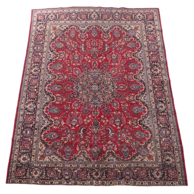 9'5 x 12'8 Hand-Knotted Persian Mashhad Room Sized Rug