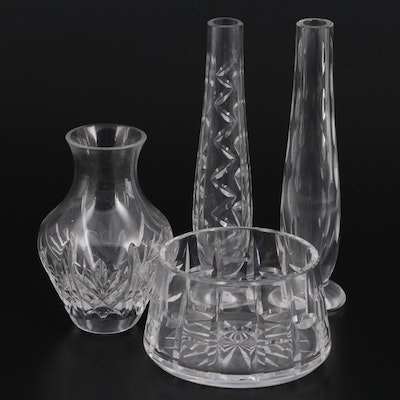 Waterford Crystal Bud Vases and Candy Dish