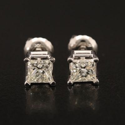 14K 0.83 CTW Diamond Stud Earrings